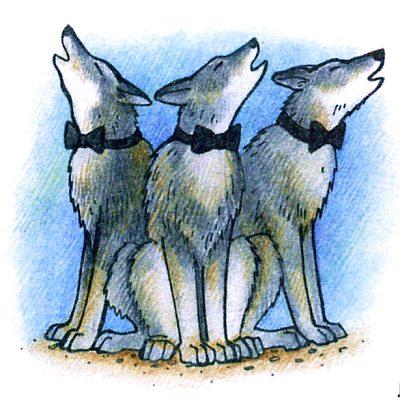 Как волки воспитывают волчат