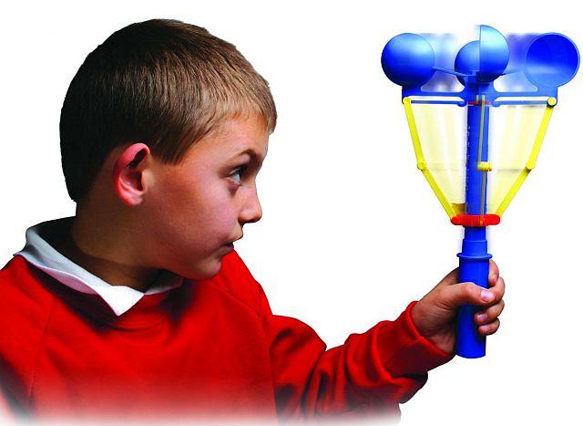 Прибор для измерения скорости ветра - детский анемометр