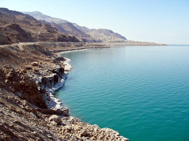 Побережье Мертвого моря принадлежащее Иордании